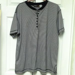Tops - Women's Black and White Striped Shirt *HOST PICK*